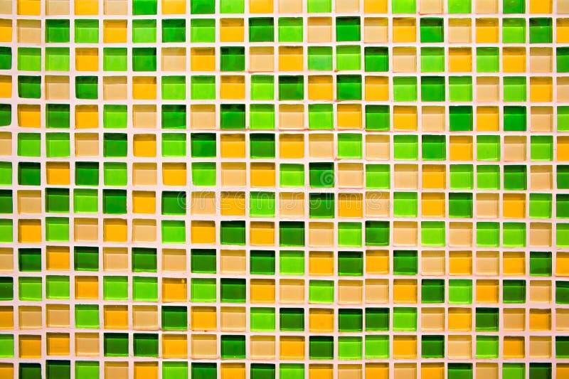 Fundo e textura quadrados abstratos do mosaico do pixel foto de stock