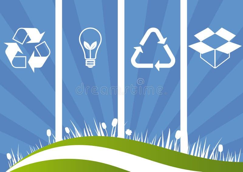 Fundo ecológico ilustração stock