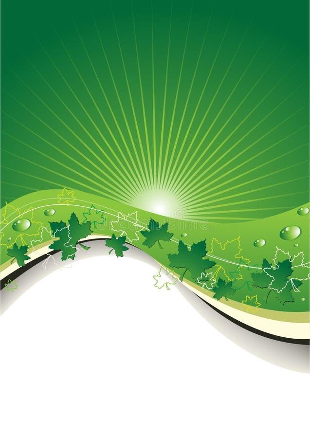 Fundo ecológico ilustração do vetor
