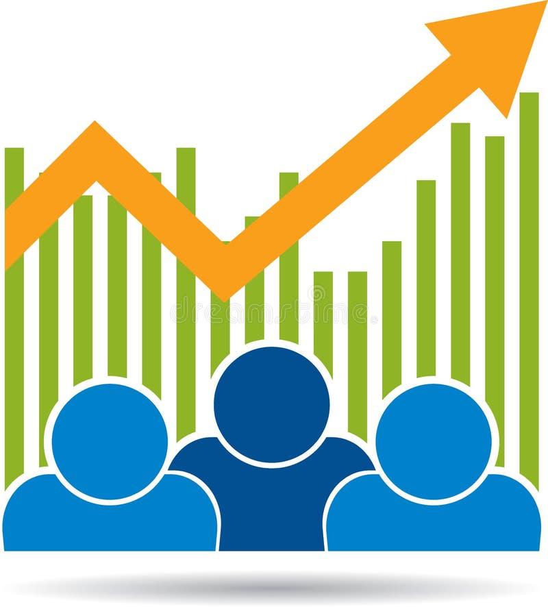 Fundo econômico da carta da seta do gráfico ilustração do vetor