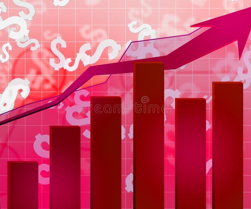 Fundo econômico vermelho ilustração do vetor