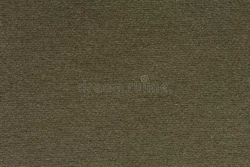 Fundo eficaz do tecido no tom verde-oliva, verde escuro Textura da tela natural, teste padrão imagens de stock