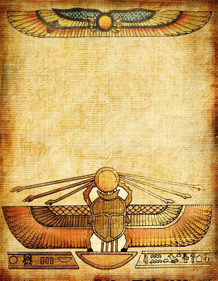 Fundo egípcio ilustração royalty free
