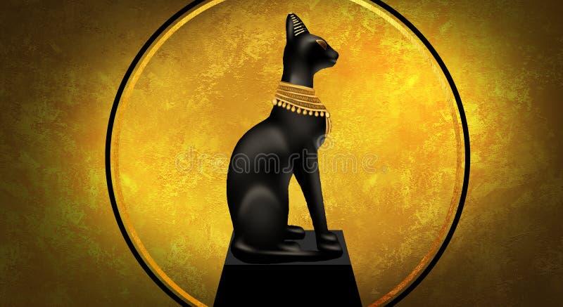 Fundo egípcio antigo abstrato, Cleopatra ilustração stock