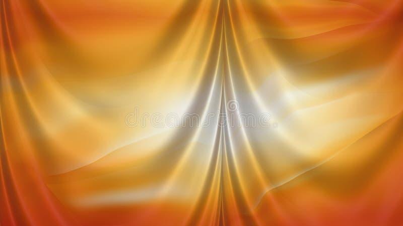 Fundo elegante abstrato do projeto da arte gráfica da ilustração da laranja e do Grey Satin Drapes Beautiful ilustração stock