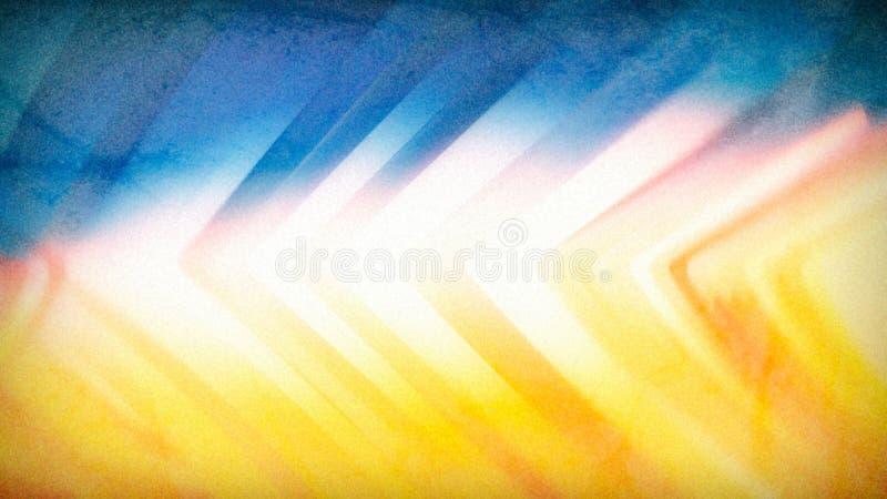 Fundo elegante bonito amarelo alaranjado azul do projeto da arte gr?fica da ilustra??o ilustração do vetor