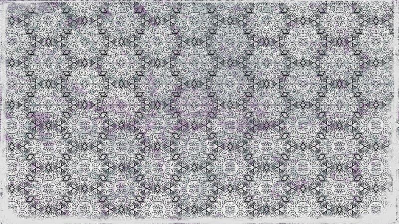 Fundo elegante bonito do projeto da arte gráfica da ilustração de Gray Decorative Ornament Background Pattern ilustração stock