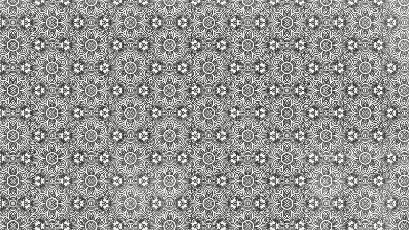 Fundo elegante bonito do projeto da arte gráfica da ilustração do projeto de Grey Decorative Floral Pattern Background ilustração royalty free
