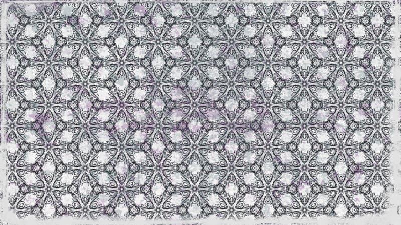Fundo elegante bonito do projeto da arte gráfica da ilustração de Grey Geometric Ornament Background Pattern ilustração do vetor
