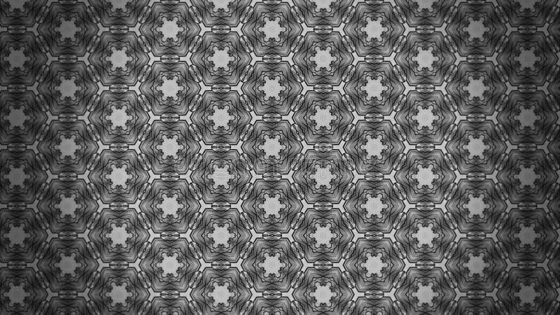 Fundo elegante bonito escuro do projeto da arte gráfica da ilustração de Grey Decorative Floral Pattern Background ilustração do vetor