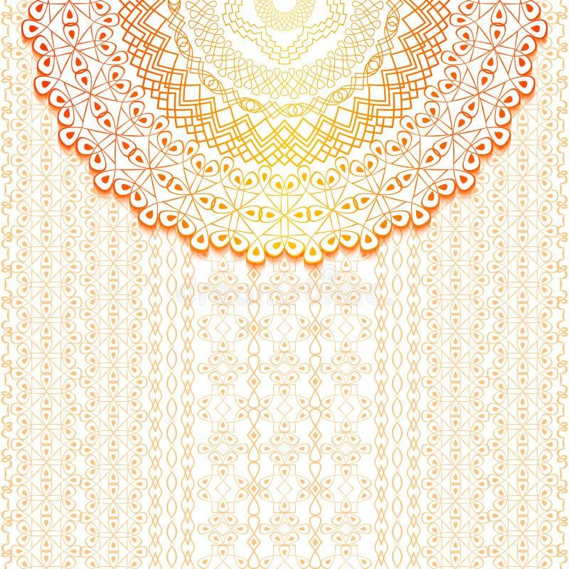 Fundo elegante com ornamento do laço e lugar para o texto Teste padrão 08 Islã, árabe, indiano, motivos ilustração do vetor