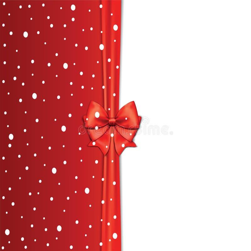 Fundo elegante do feriado com curva vermelha e espaço para o texto Vect ilustração do vetor