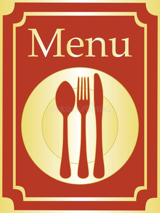Fundo elegante do menu ilustração stock