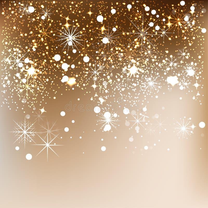 Fundo elegante do Natal com flocos de neve ilustração do vetor