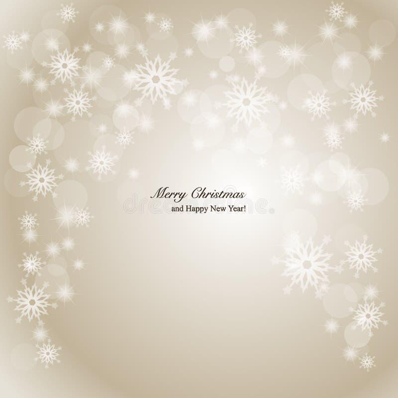 Fundo elegante do Natal com flocos de neve e p ilustração royalty free
