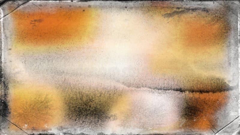 Fundo elegante do projeto da arte gráfica da ilustração da laranja e do Grey Grunge Texture Background Beautiful ilustração stock
