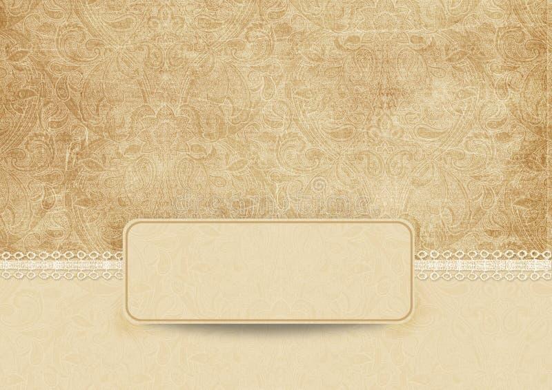 Fundo elegante do vintage com laço ilustração stock
