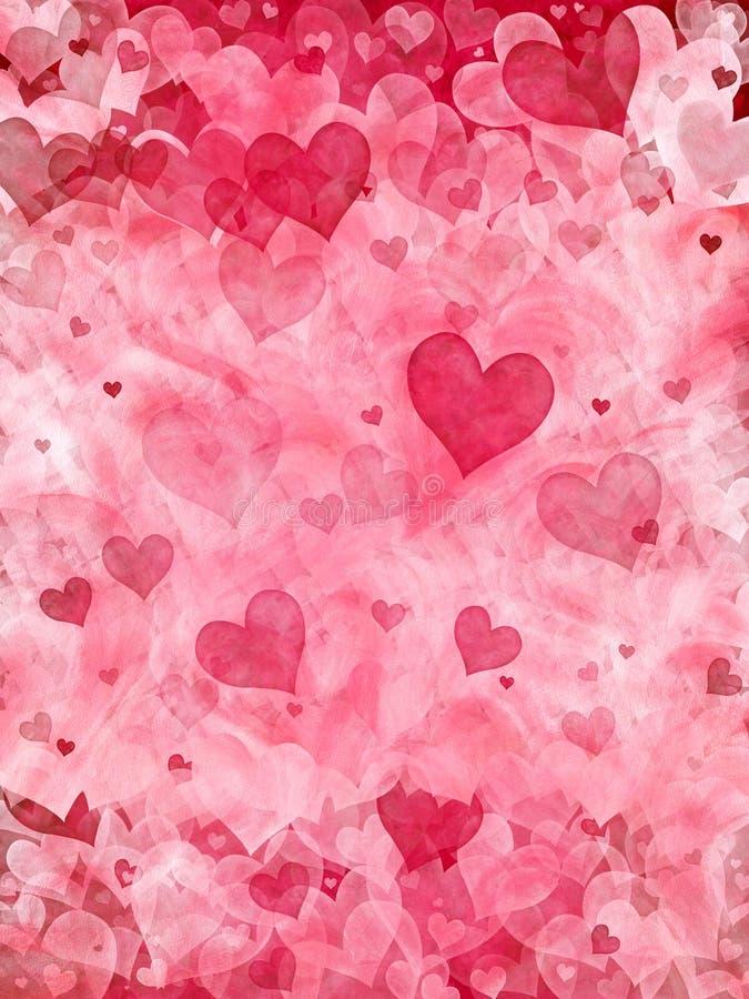 Fundo elegante dos corações ilustração stock