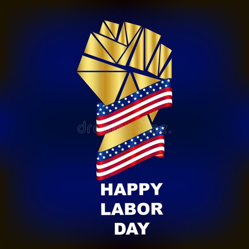 Fundo elegante dos EUA do Dia do Trabalhador ilustração do vetor