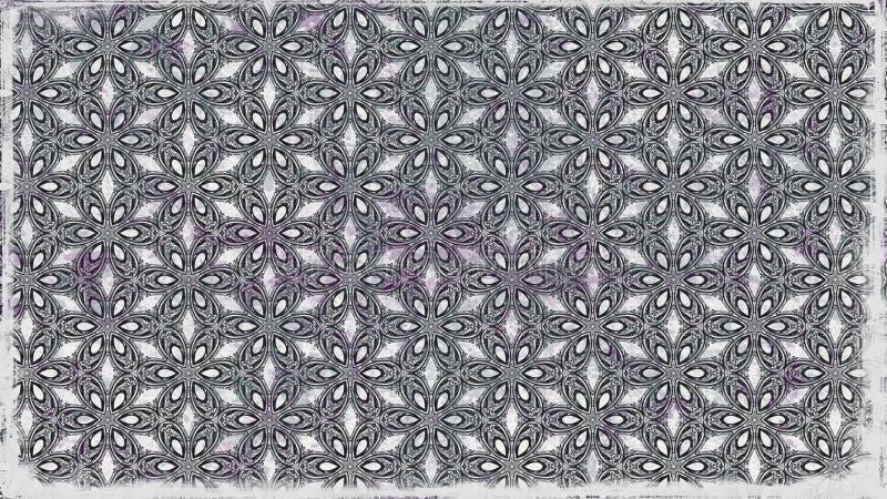 Fundo elegante escuro do projeto da arte gráfica da ilustração de Gray Floral Wallpaper Background Beautiful ilustração royalty free