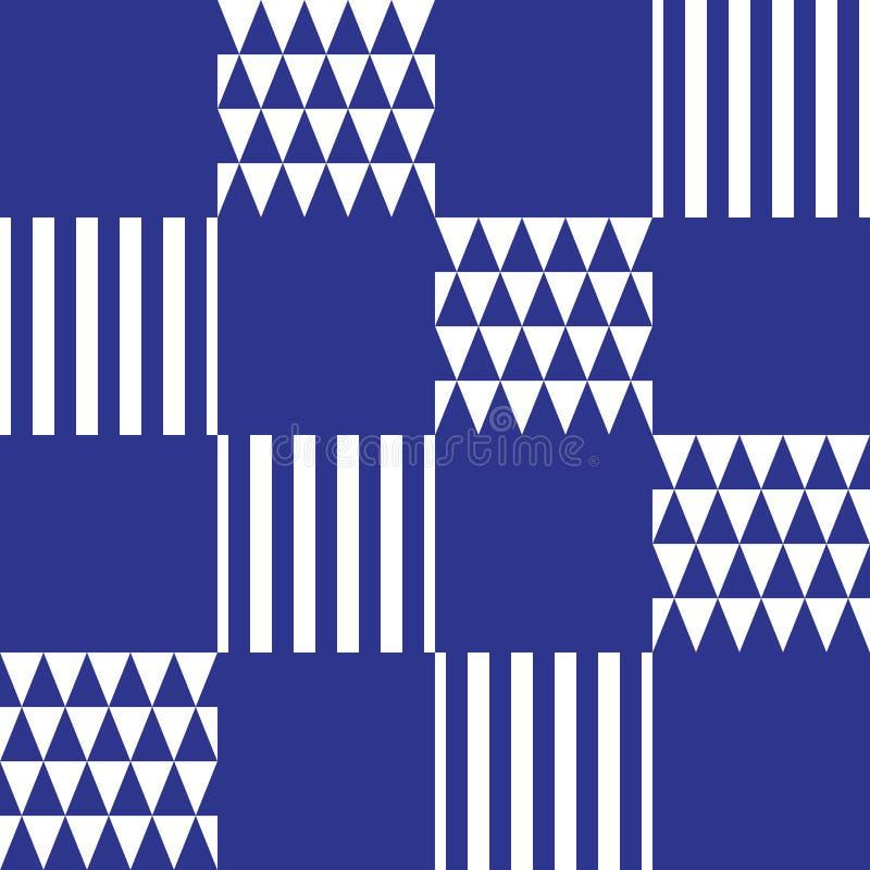 Fundo em azul e em branco ilustração do vetor