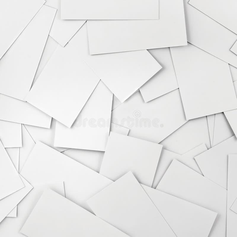 Fundo em branco múltiplo dos cartões fotos de stock
