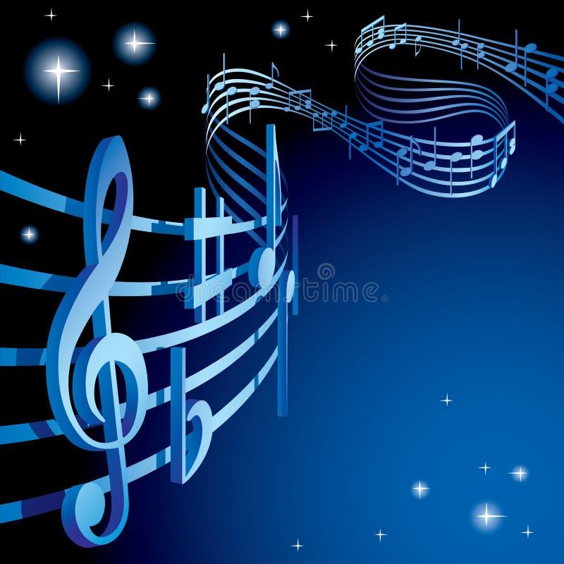 Fundo em um tema musical ilustração do vetor