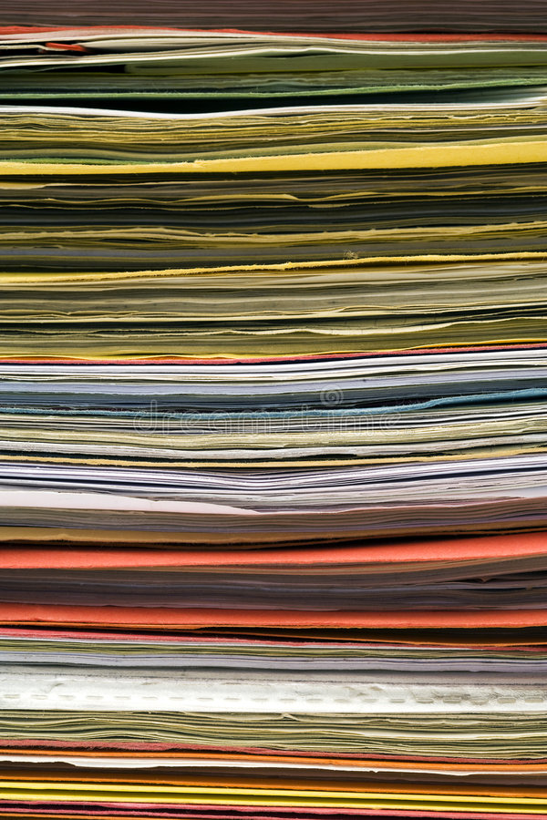 Fundo empilhado dos dobradores de arquivo foto de stock