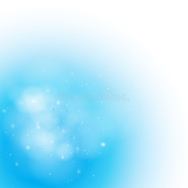 Fundo enevoado azul macio ilustração do vetor