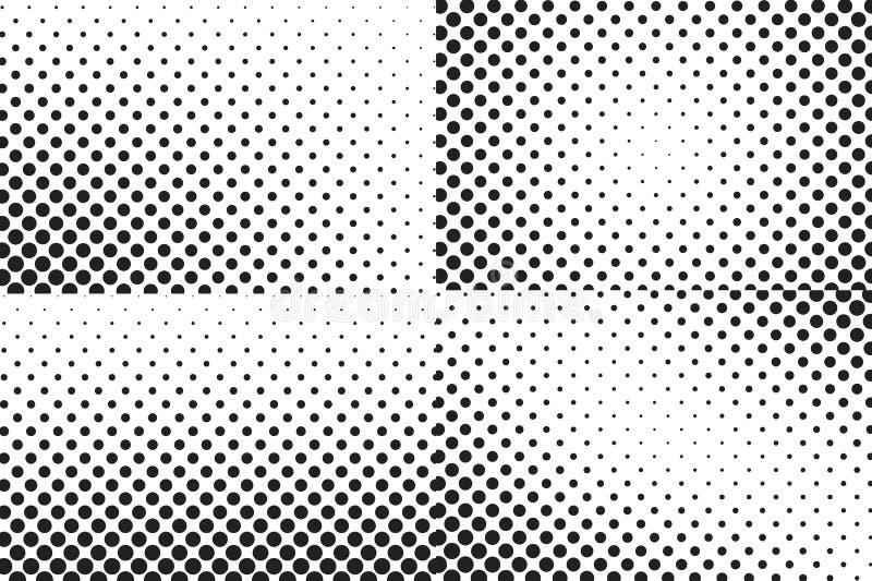 Fundo enorme da reticulação dos pontos Textura da folha de prova ilustração do vetor