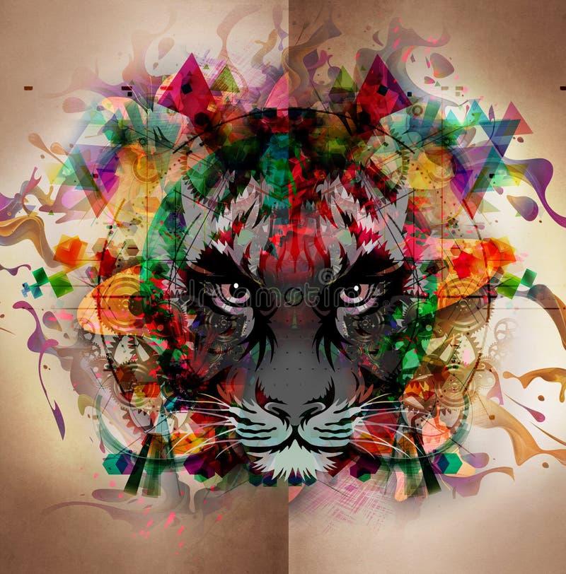 Fundo ensanguentado do sumário do tigre ilustração do vetor