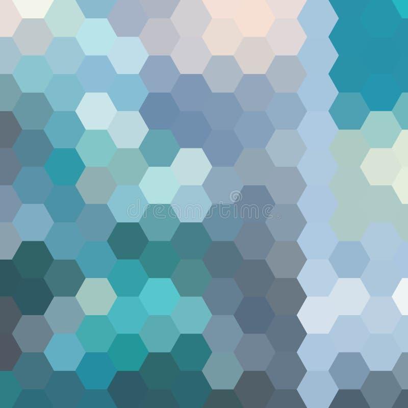 Fundo ensolarado do mosaico da mola, fundo sextavado verde do vetor do teste padr?o Eps 10 ilustração royalty free