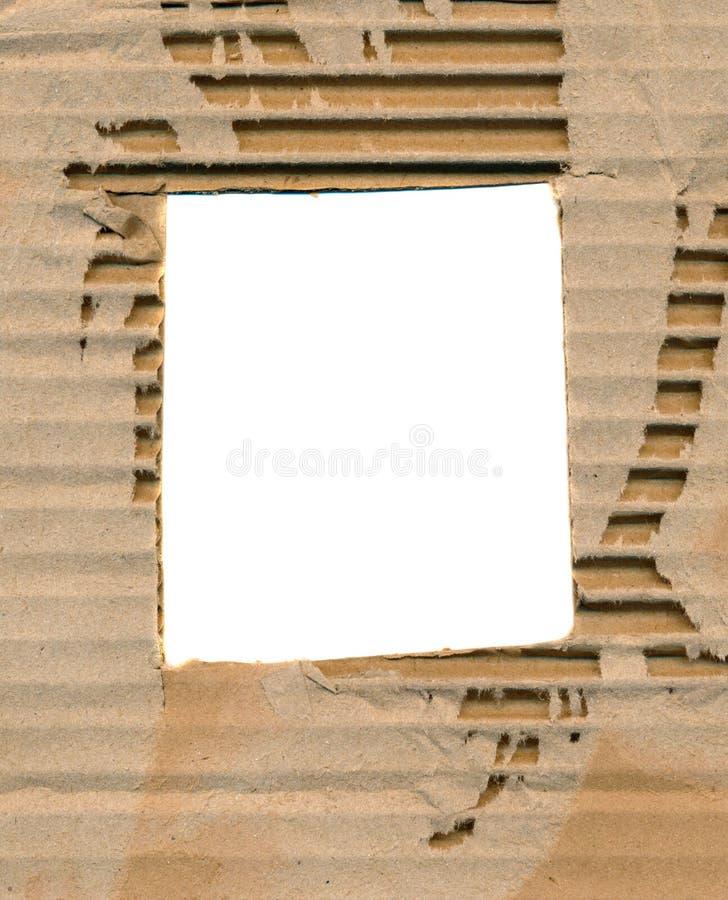 Fundo envelhecido e corrugado do papel do pacote imagem de stock royalty free