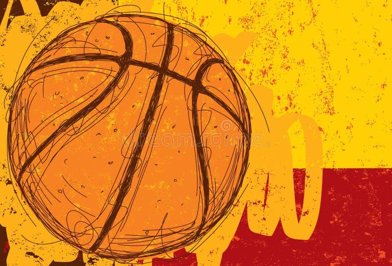 Fundo esboçado do basquetebol ilustração do vetor