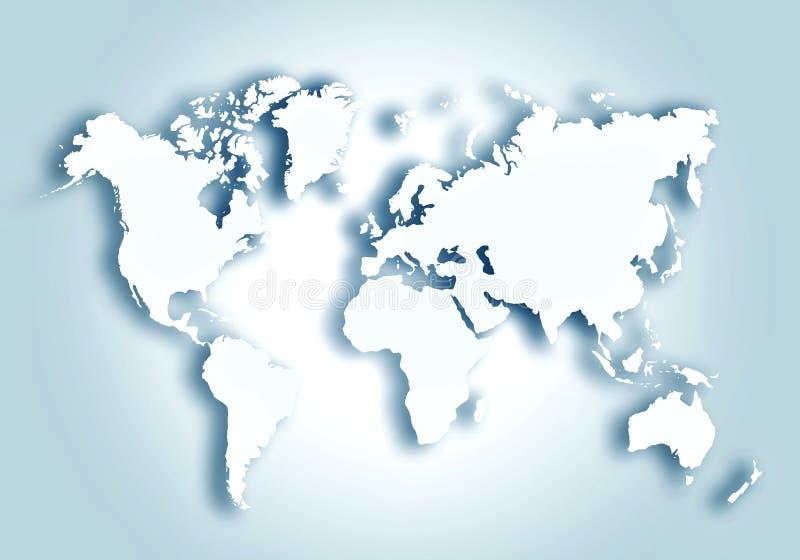 Fundo esbo?ado digital do mapa do mundo ilustração do vetor