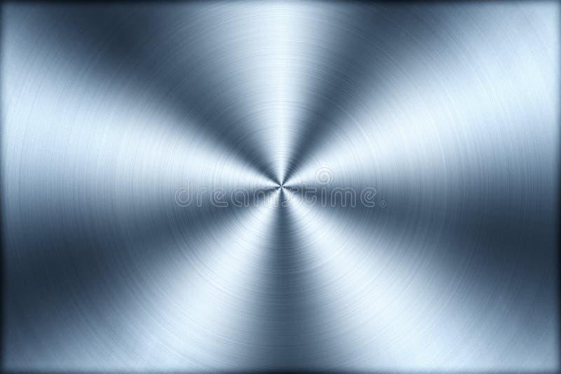Fundo escovado circular da textura do metal, ilustração ilustração stock