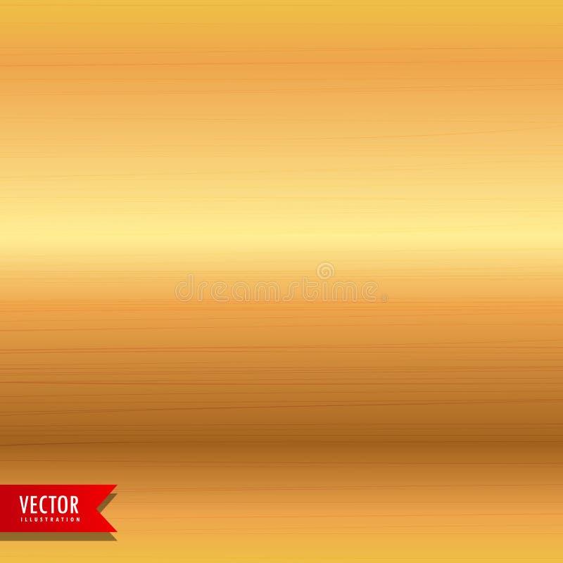 Fundo escovado da textura do metal do ouro ilustração royalty free