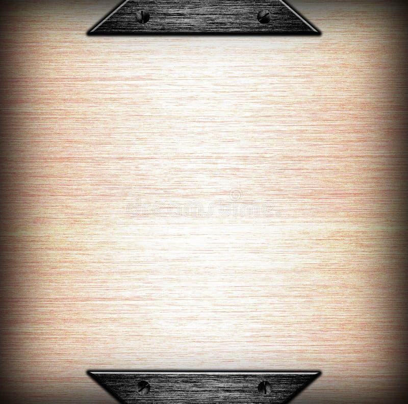 Fundo escovado do molde da placa de metal foto de stock royalty free