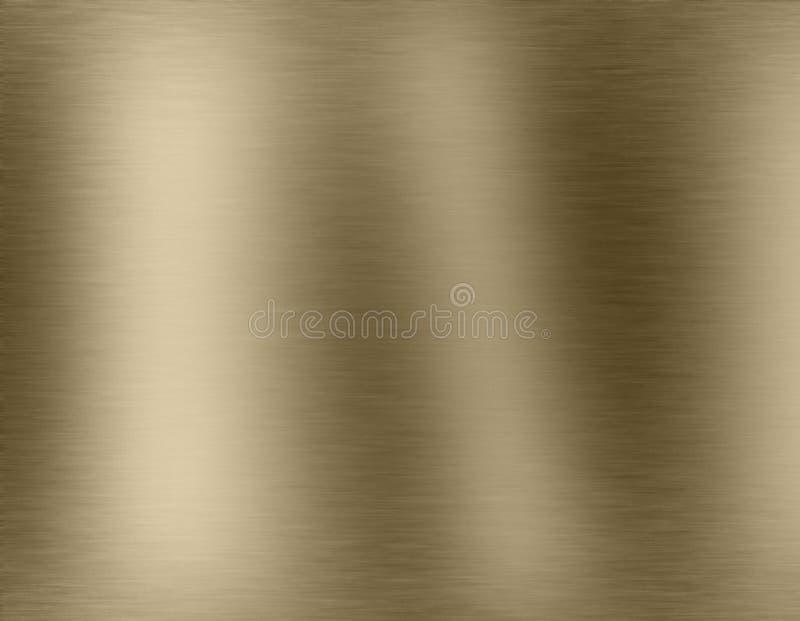 Fundo escovado metal do ouro foto de stock