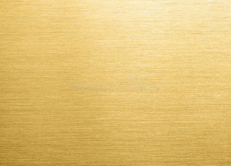 Fundo escovado ouro do metal fotos de stock