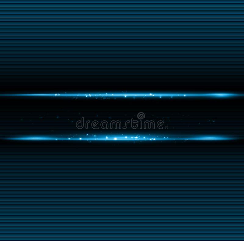 Fundo escuro abstrato com luz azul da cor ilustração stock