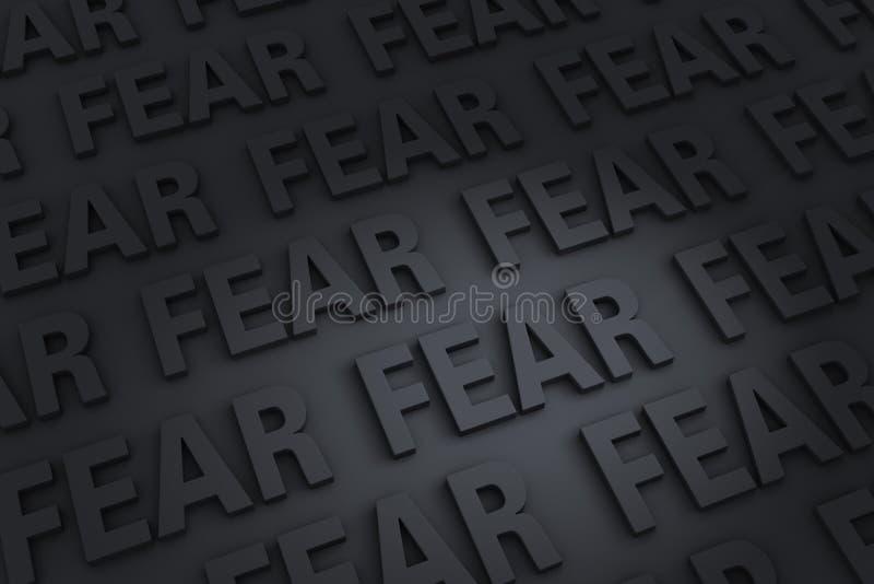 Fundo escuro do medo ilustração stock