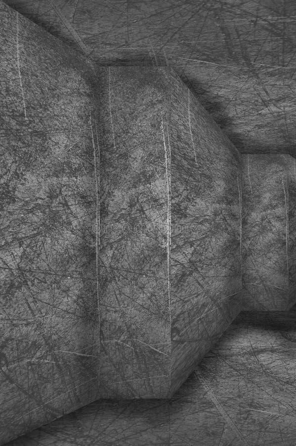 Fundo escuro do muro de cimento ilustração stock