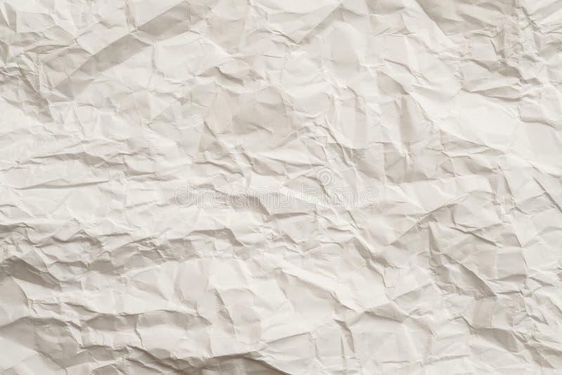 Fundo esmagado de papel amarrotado da textura do marfim fotografia de stock royalty free