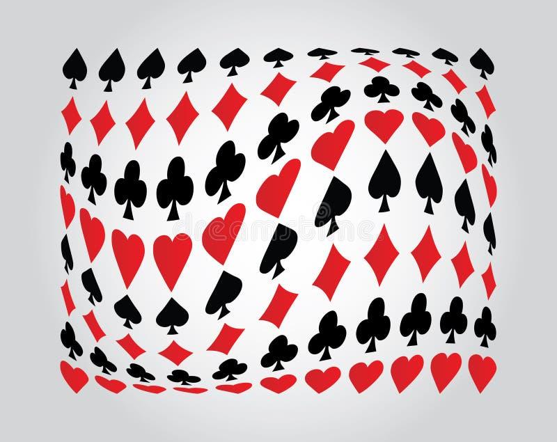 Fundo especial do póquer ilustração do vetor