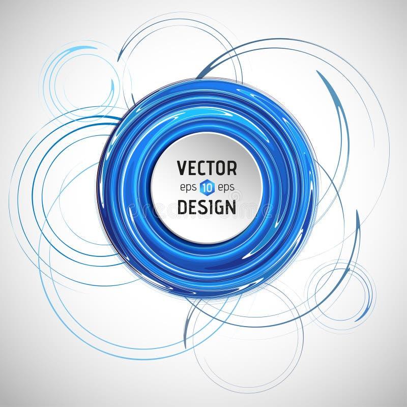 Download Fundo espiral abstrato ilustração do vetor. Ilustração de linha - 107525750