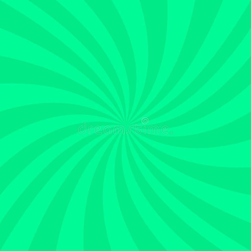 Fundo espiral abstrato verde - vector o projeto dos raios de giro ilustração do vetor