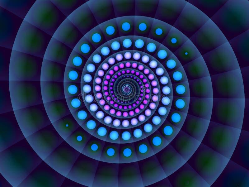 Fundo espiral azul abstrato fotografia de stock