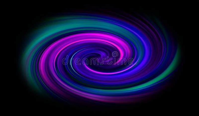 Fundo espiral brilhante colorido ilustração do vetor