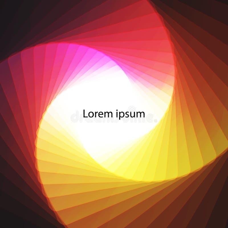 Fundo espiral colorido abstrato com lugar para o texto ilustração stock
